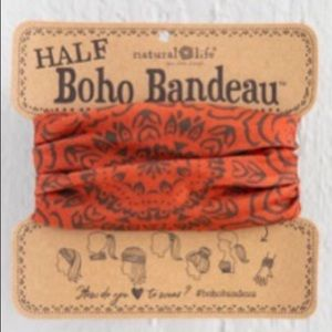 Natural Life Half Boho Headband Bandeau OrangBrown